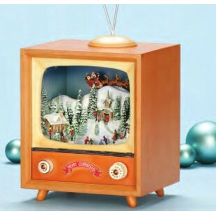 rotating musical tv box - Christmas Tv Decoration