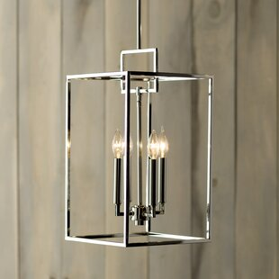 Abrego 4-Light Square/Rectangle Pendant by Mercury Row