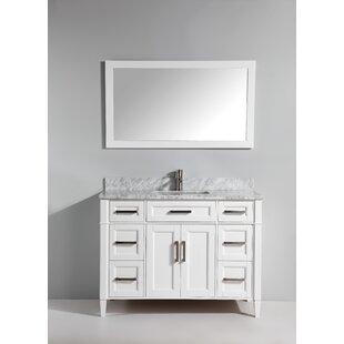 Best Dallaire 60 Single Bathroom Vanity Set with Mirror ByGracie Oaks