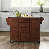 Bair Kitchen Island With Granite Top by August Grove®