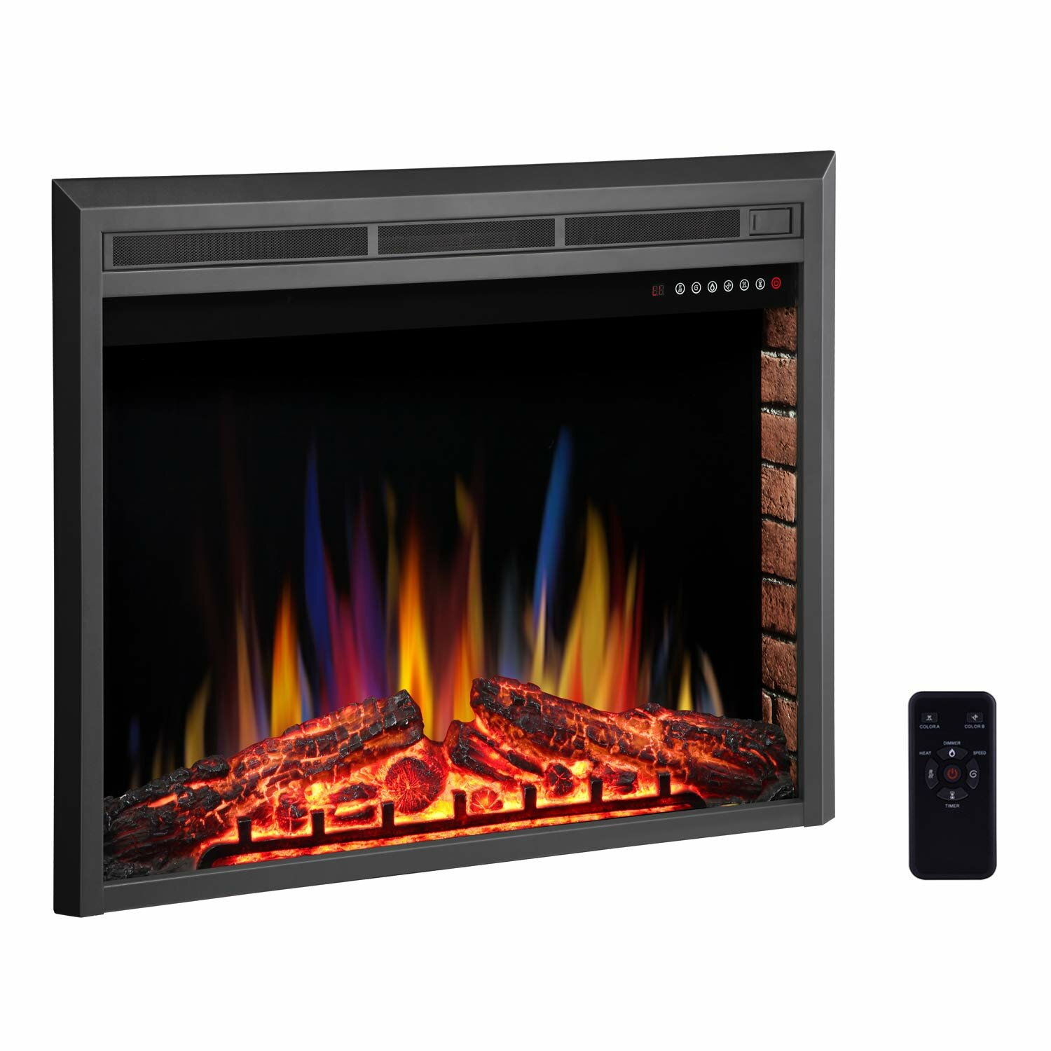 Heating Cooling Air Quality R W Flame Electric Fireplace Mantel Wooden Surround Firebox Free Standing Remote Control Black Adjustable Led Flame Home Kitchen Crewontour Com