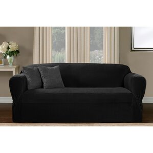 One Piece Box Cushion Sofa Slipcover by Red ..