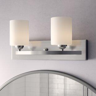 Cusack Modern 2-Light Vanity Light by Ebern Designs