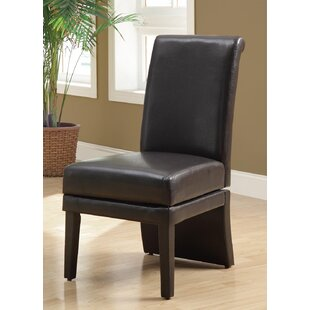 Monarch Specialties Inc. Swivel Leather Parsons Chair