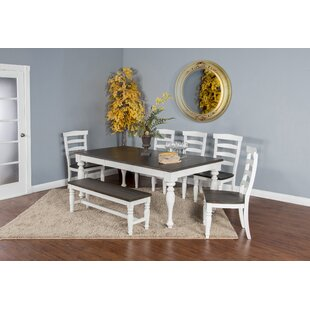 Arlene 6 Piece Extendable Solid Wood Dining Set August Grove