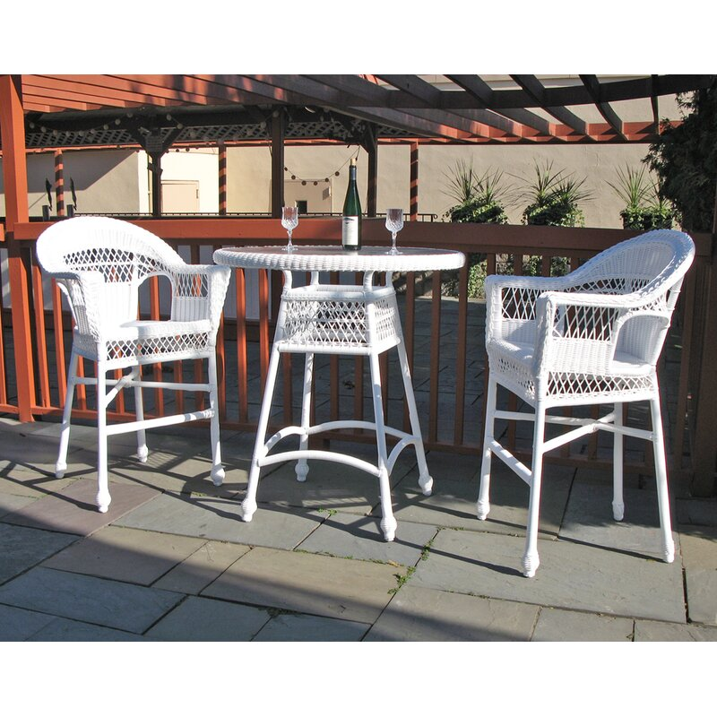 August Grove Camacho 3 Piece Bar Height Dining Set  Finish: Natural
