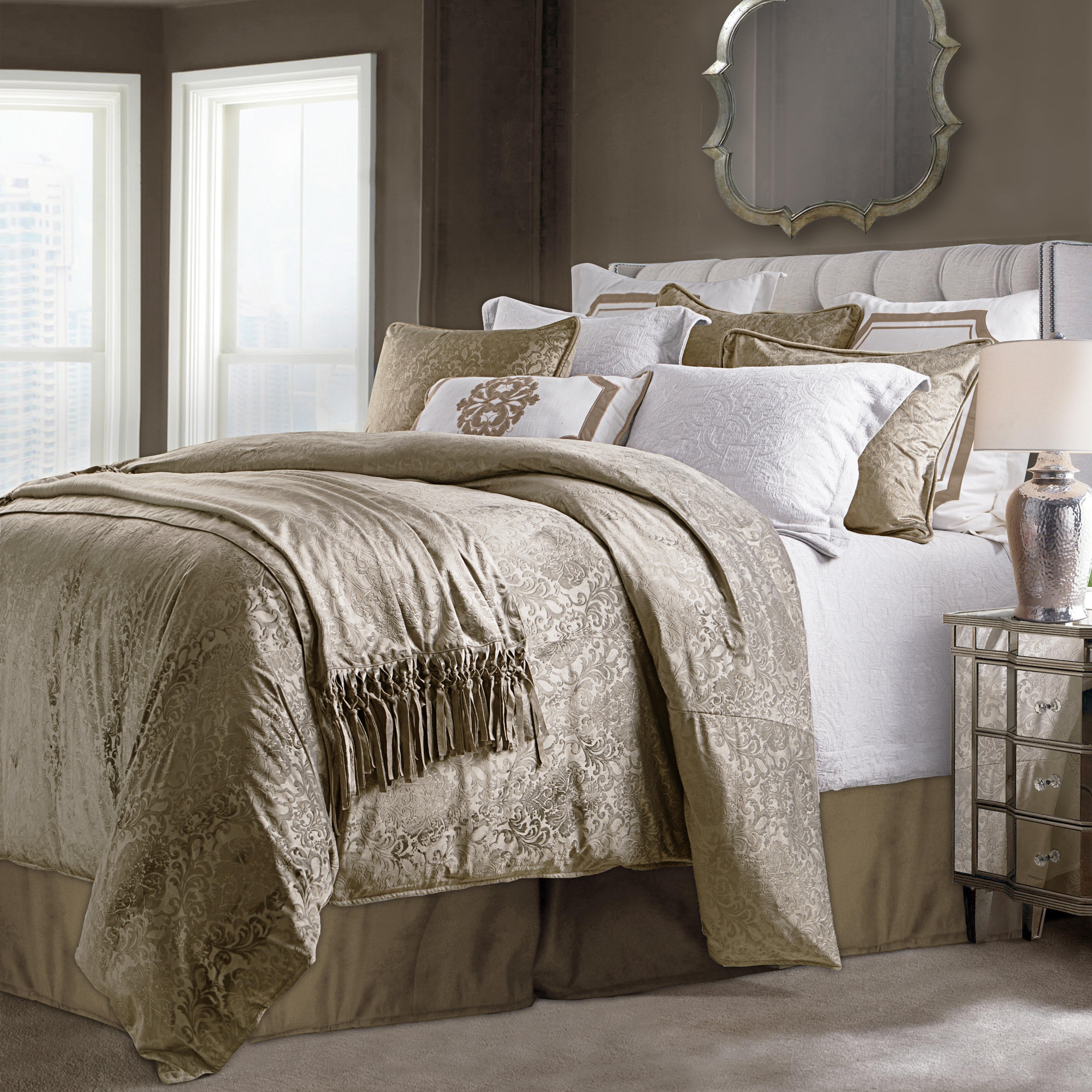 East Urban Home Embossed Velvet Comforter Set Wayfair