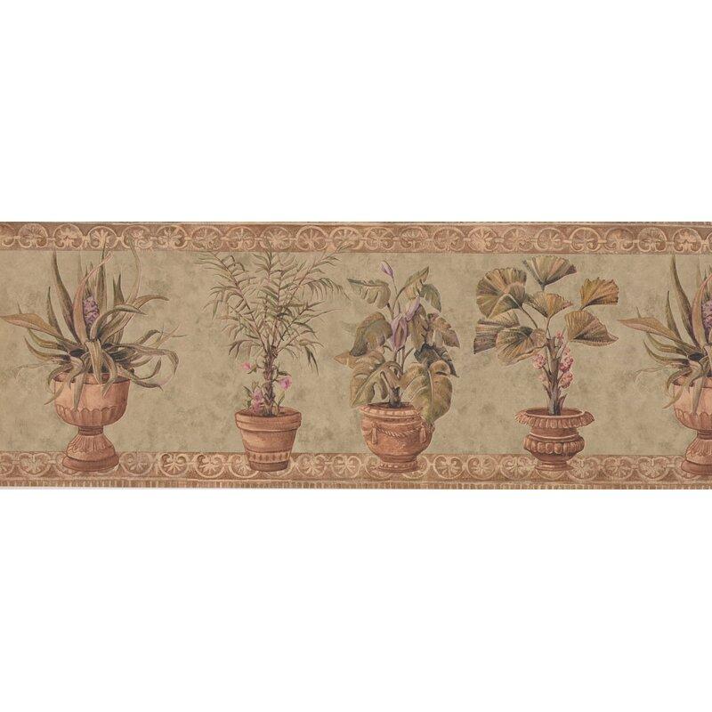 Top Astoria Grand Krajewski Plants in Pots Retro Design 15' L x 9'' W  OT11