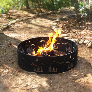 Wilderness Steel Wood Burning Fire Ring by Corral