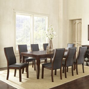 Abigale 9 Piece Extendable Dining Set by Alcott Hill