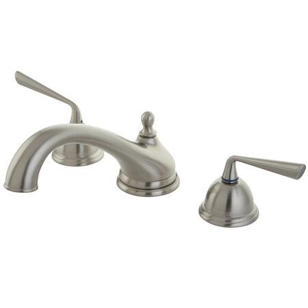 Kingston Brass Silver Sage Double Handle Deck Mounted Roman Tub Faucet Trim Wayfair