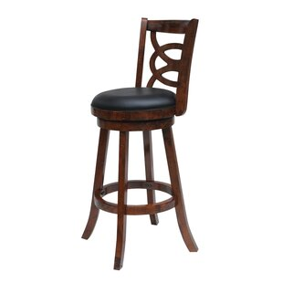 LaGrange 24 Swivel Bar Stool Red Barrel Studio