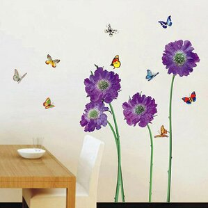 Purple Flower Wall Decal Part 43