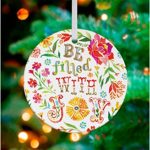 be filled with joy ornament by katie daisy