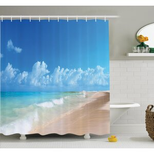 Nautical Tropical Ocean Waves Shower Curtain Set