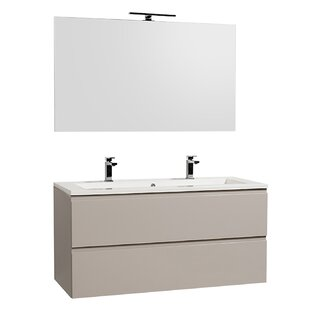 Gammon 1200mm Wall Hung Double Vanity Unit By Ebern Designs