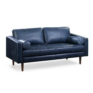 Best Deals Kate Genuine Leather Sofa by Foundry Select Reviews (2019) & Buyer's Guide