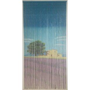 Beaded Semi Sheer Thermal Single Curtain Panel