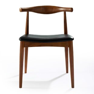 Nan Genuine Leather Upholstered Dining Chair by Corrigan Studio
