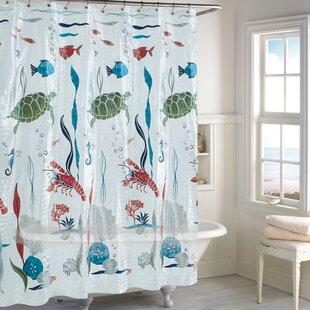 Savings Humphery Aquarium Peva Vinyl Shower Curtain ByHighland Dunes