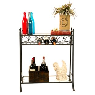 7 Bottle Floor Wine Rack by Homestyle Col..