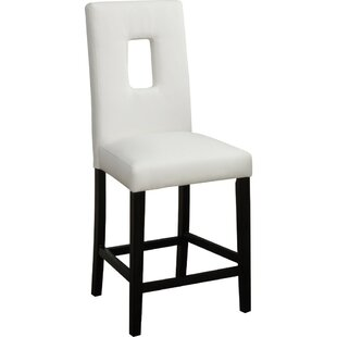 Gamble Leather Bar Stool (Set of 2) by Ebern Designs