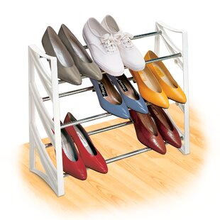 Check Prices Closet Convertible 9 Pair Shoe Rack By Lynk®