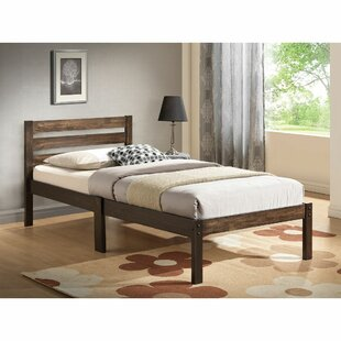 Macomber Twin Solid Wood Sleigh Bed