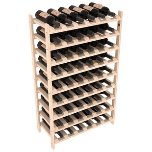 Karnes Pine Stackable 54 Bottle Floor Win..