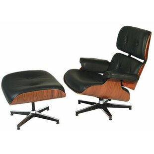 Donavan Swivel Lounge Chair and Ottoman by Corrigan Studio
