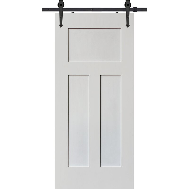 Craftsman Solid Wood Panelled Interior Barn Door