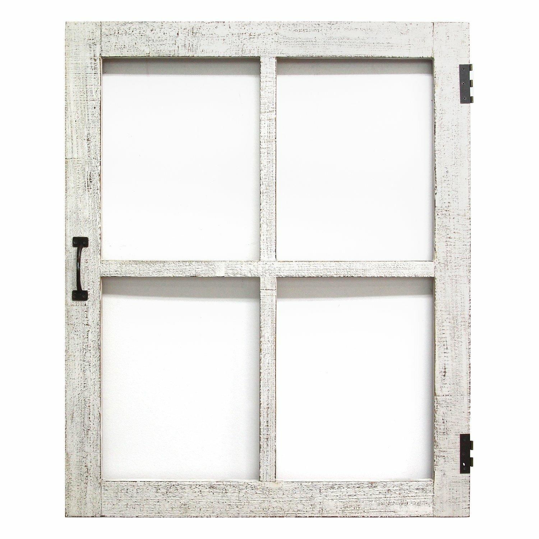 Gracie Oaks Distressed Faux Window Pane Wall Decor Wayfair