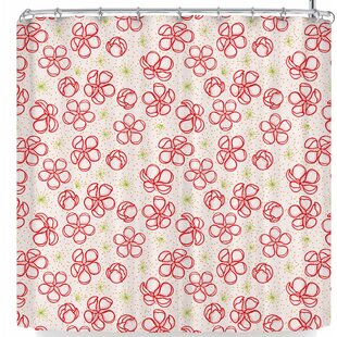East Urban Home Billington Cherry Blossom Shower Curtain