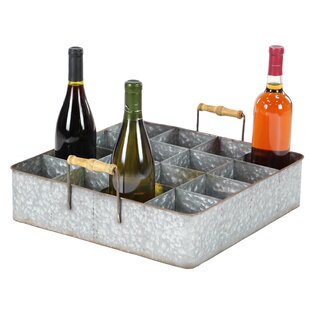 Amee Farmhouse 16-Bottle Tabletop Wine Bo..
