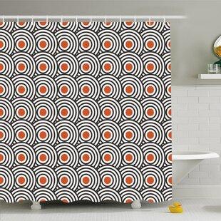 Modern Art Home Retro Minimalist Concentric Spiral Vortex Graphic Work Shower Curtain Set