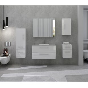 Chugg 37.6cm X 118cm Wall Mounted Bathroom Set By Wade Logan