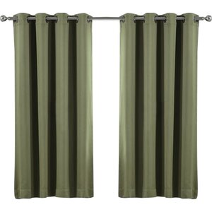 Solid Blackout Thermal Grommet Curtain Panels (Set of 2)