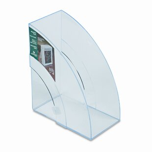 Optimizers Deluxe Plastic Magazine Rack by Rubbermaid