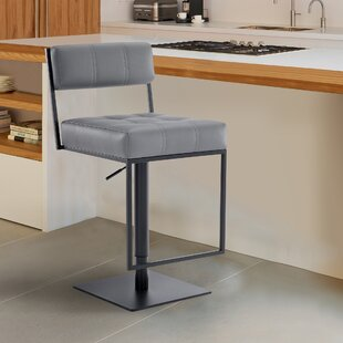 Michele Swivel Adjustable Height Bar Stool by Armen Living