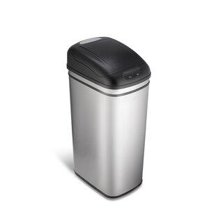 Stainless Steel 11.8 Gallon Motion Sensor Trash Can