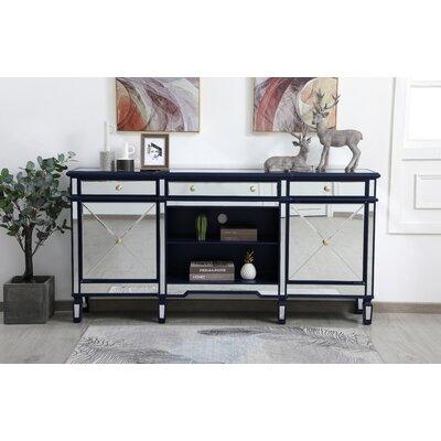 """Rosdorf Park Rundle 72"""" Wide 3 Drawer Credenza  Color: Blue"""