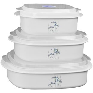 Corelle Coordinates Microwave Cookware 3 Container Food Storage Set