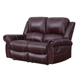 Lopp Leather Reclining Loveseat