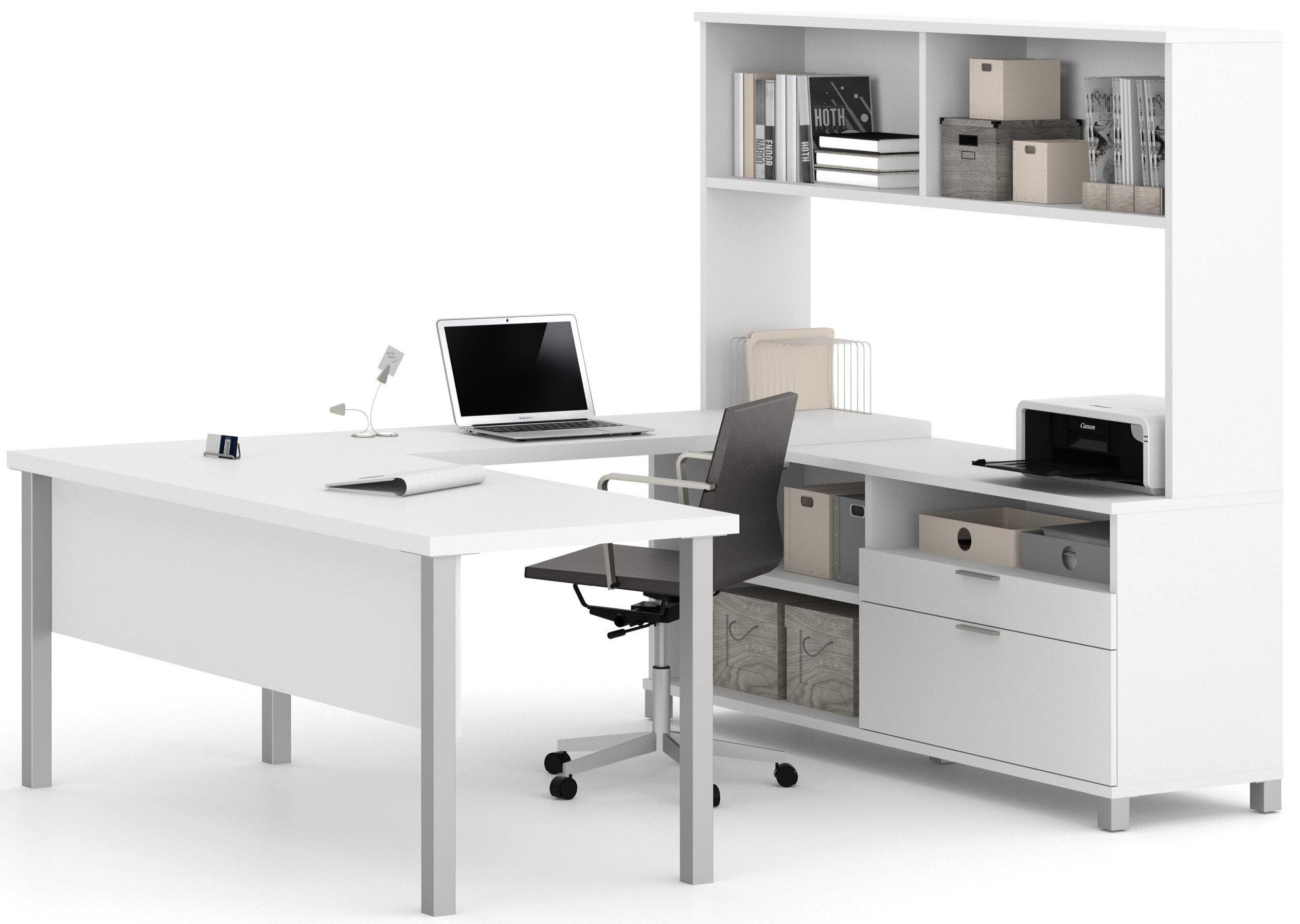 Vanessa 4 Piece Office Set With Hutch Allmodern