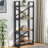 Helland 61.81'' H x 23.62'' W Metal Standard Bookcase by 17 Stories