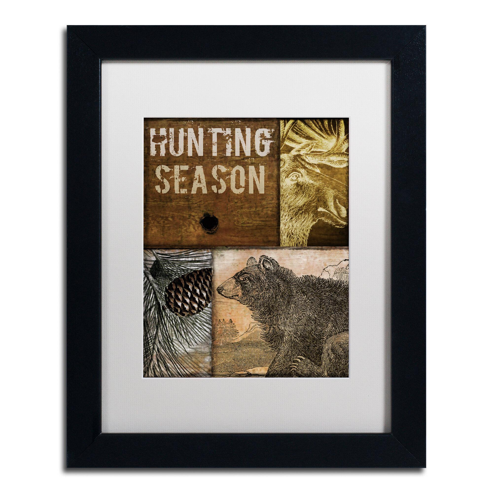 Trademark Art Hunting Season Iv By Color Bakery Framed Graphic Art Wayfair