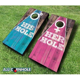 AJJ Cornhole His and Her Cornhole Set