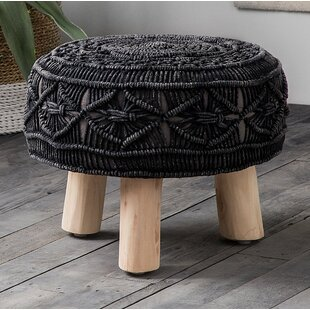 Affric Knitted Accent Stool by Bungalow Rose