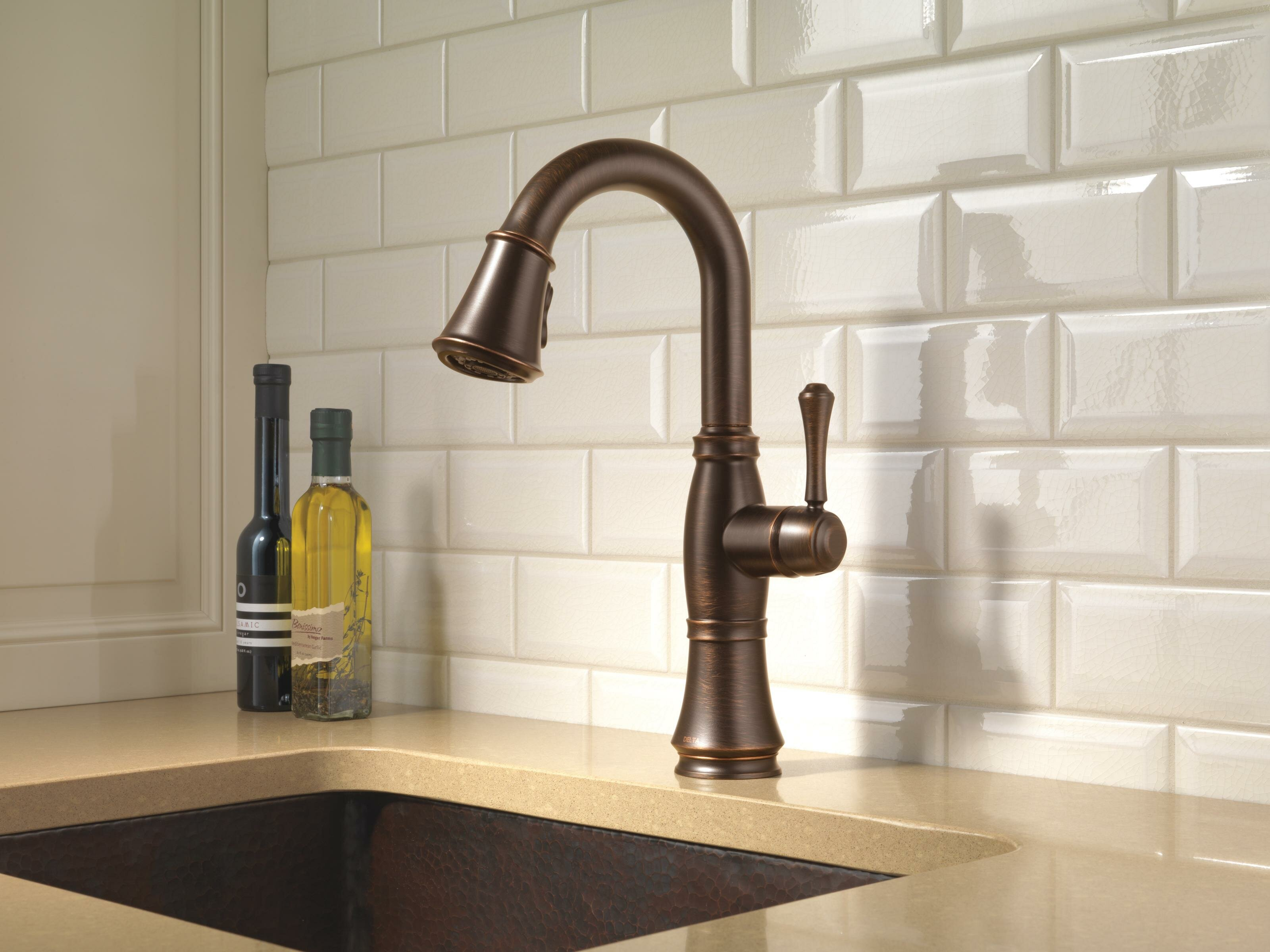 cassidy pull down bar faucet with diamond seal technology reviews birch lane
