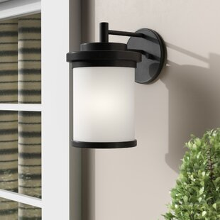 Look for Dashiell Glass Shade Outdoor Wall Lantern By Three Posts